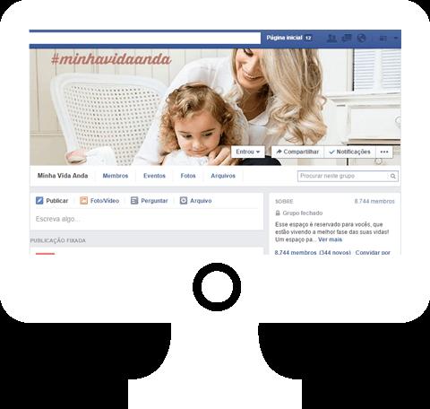 Grupo de Facebook #minhavidaanda